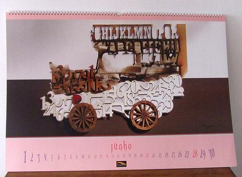 Calendário Atrativa com Colagens de Tide Hellmeister