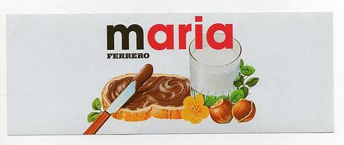 Adesivo Nutella Maria