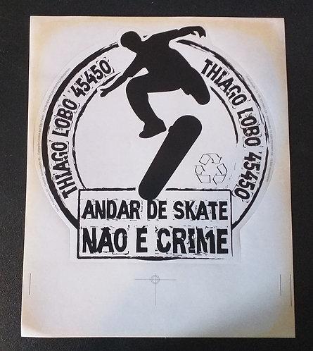 Adesivo Andar de Skate Não é Crime