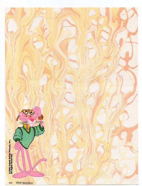 Papel de Carta Antigo Best Cards Pantera Cor-de-Rosa Melt