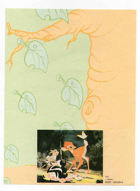 Papel de Carta Antigo Best Cards Disney Bambi
