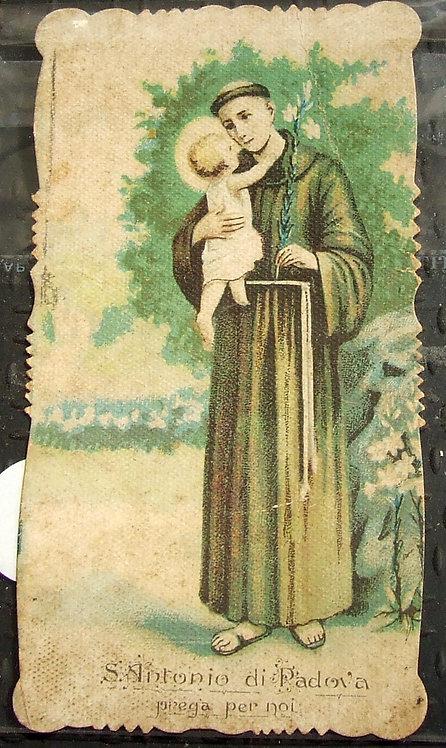 Santinho Santo Antonio di Padova Prega Per Noi - 1918