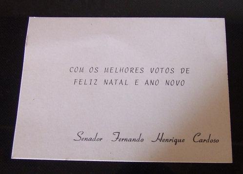 Cartão de Boas Festas FHC Senador