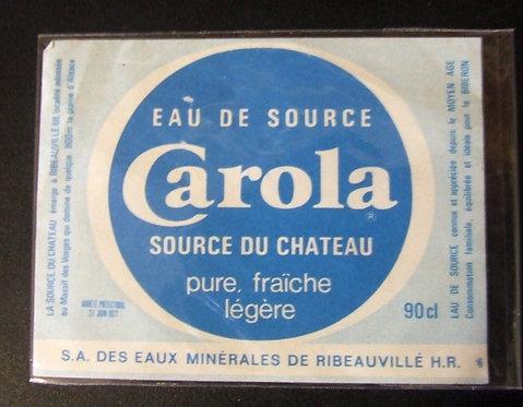 Rótulo Eau de Source Carola