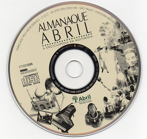 CD-Rom Almanaque Abril - A Enciclopédia Multimídia