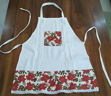 Avental de Cozinha Natal Branco