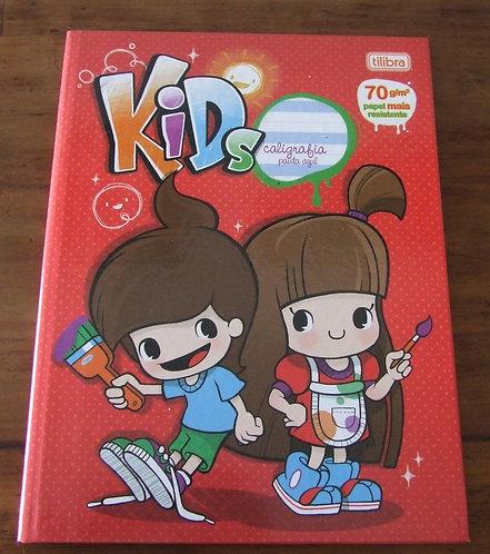 Caderno de Caligrafia Tilibra Kids Pauta Azul