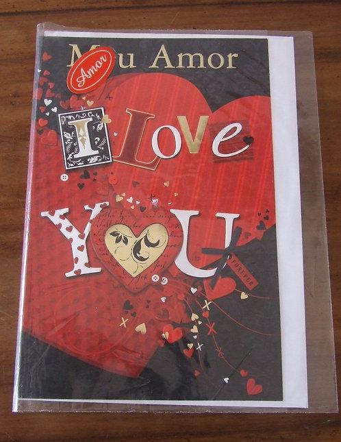 Cartão Dallec Meu Amor I Love You