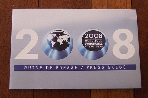 Guide de Presse - Mondial de l'Automobile  Paris 2008