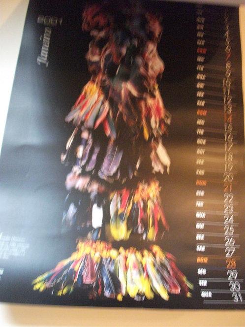 Calendário Arte Plumária 2001
