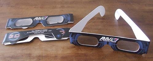 Kit com 3 Óculos de papel 3D All Mobile Video