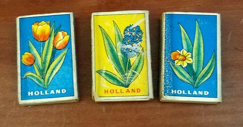 Caixas de Fósforos Flores da Holanda