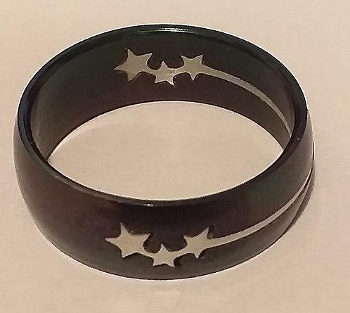Anel Titanium Estrelas