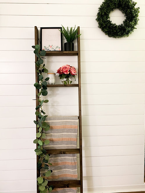 Dark Walnut Blanket Ladder