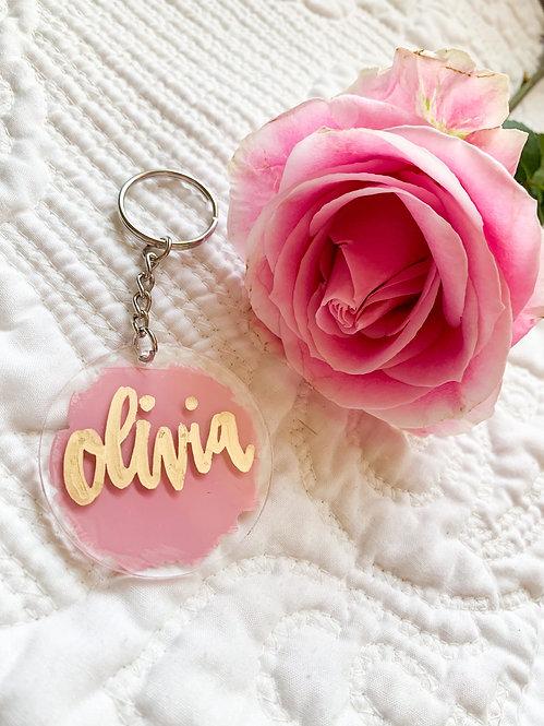 Small Personalized Acrylic Keychains