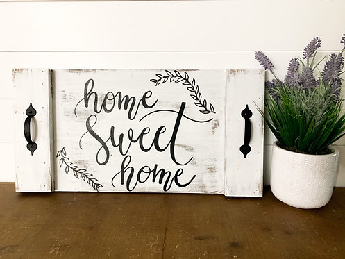 Home Sweet Home Distressed Tray