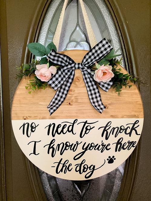 The Dog Door Hanger