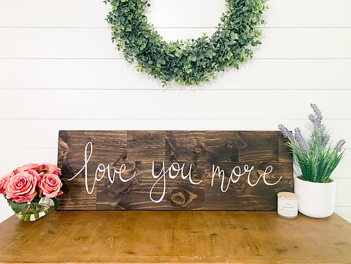 """Stained 12"""" x 36"""" Custom Wood Sign"""