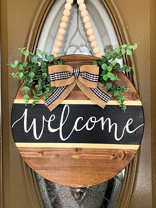 Welcome Bead Door Hanger