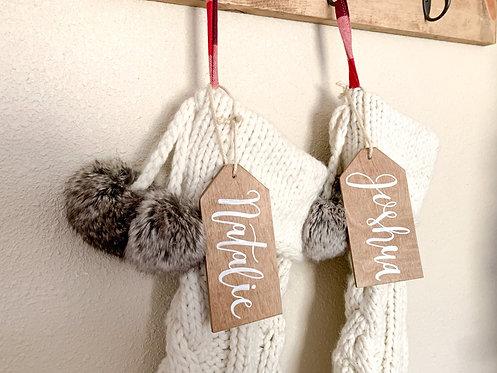 Stocking Name Tag