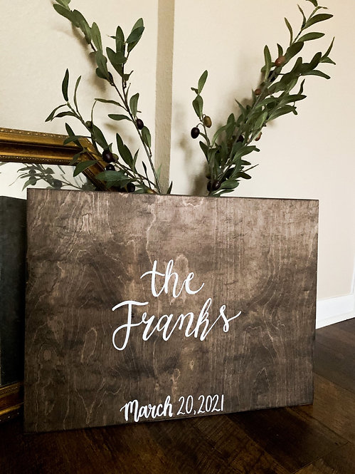 """Guest """"Book"""" Wood Sign"""