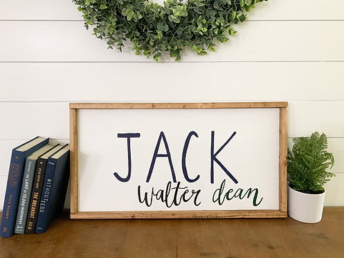 Child's Name Wood Sign