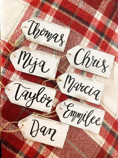 Distressed Stocking Name Tag
