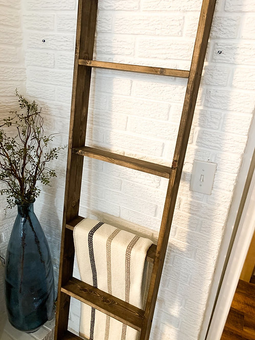 6 Foot Dark Walnut Ladder
