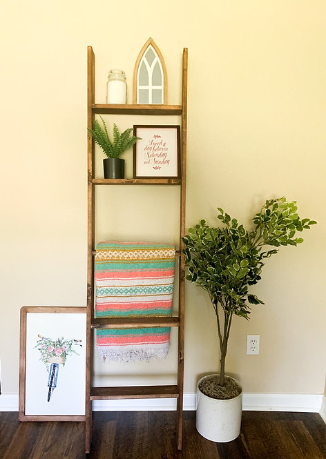 English Chestnut Blanket Ladder