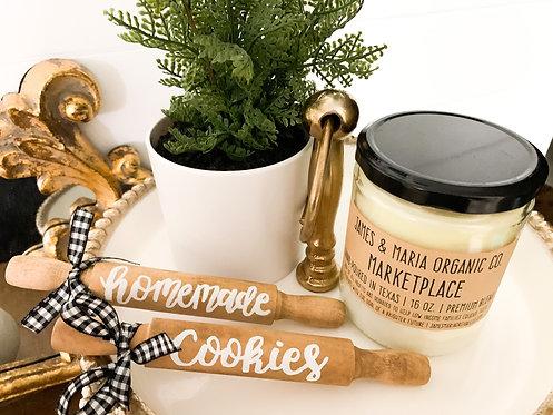 """Homemade Cookies"" Mini Wood Rollers"