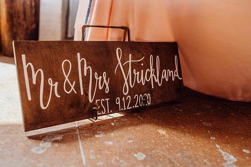Mr. & Mrs Sign