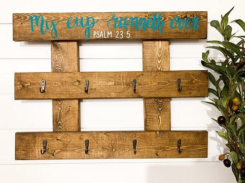 Psalm 23:5 Turquoise/Honey Holder