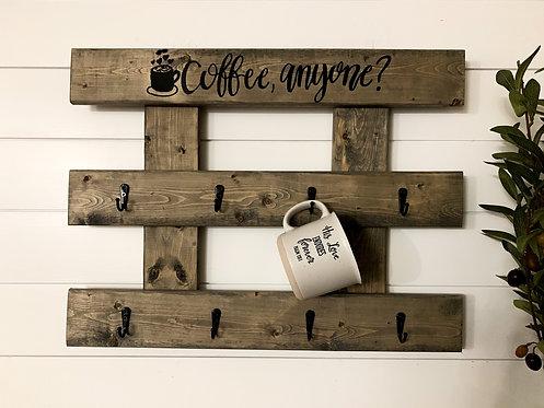 Coffee, Anyone? Aged Barrel Mug Holder