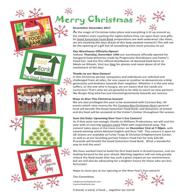 The Good Samaritan Food Bank Newsletter