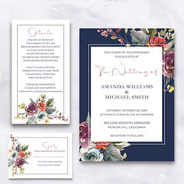 Rose Gold and Navy Stationers Mockup Ful