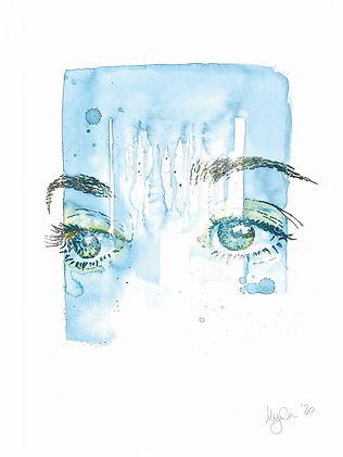 Marion C. Hoepflingers painting blue