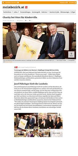 MEINBEZIRK.AT online Artiel Ottet goes Charity mit Mrion Höpflinger