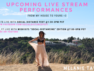 UPCOMING SOCIAL DISTANCE LIVE STREAM PERFORMANCES