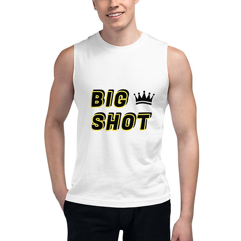 BIG SHOT Muscle Tee Mens (white)