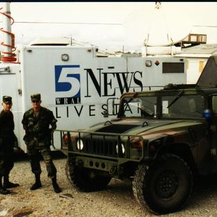 National Guard Deployed to Topsail Island Fran 1996