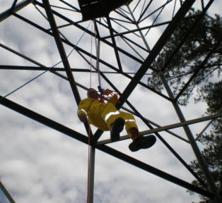Fire Tower Ropes Training 4-2008