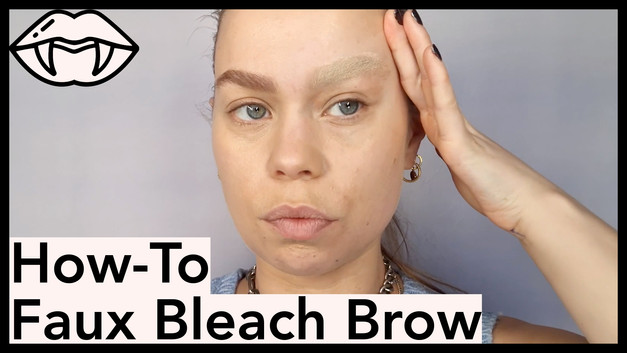 How-To Faux Bleach Brow