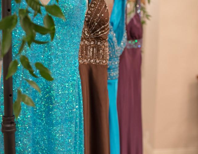 Donated dresses for Maria's Closet