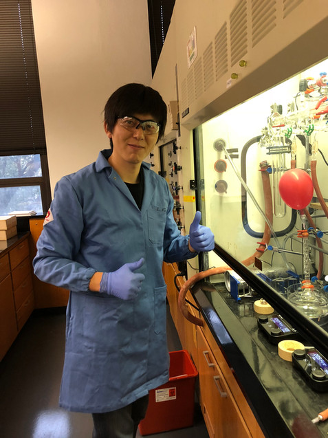 Cheoljae First to Run Reaction in Michaudel Lab Space