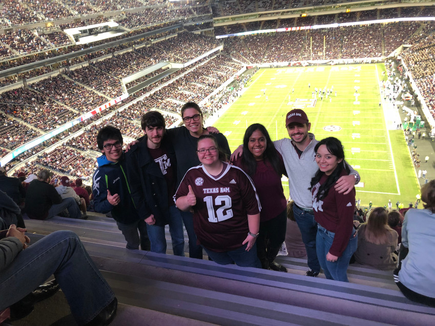 Lab Outing to the Football Game