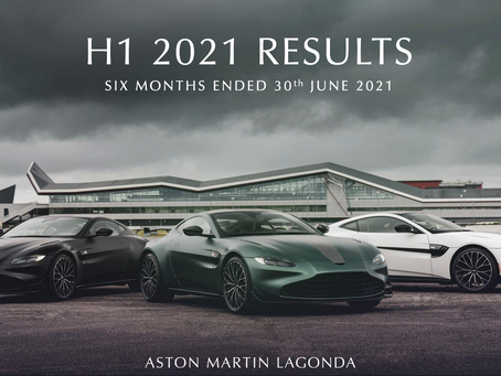 🏎  $AML.L reporting H1 2021 Results – Sales Growth of over 200% 💰