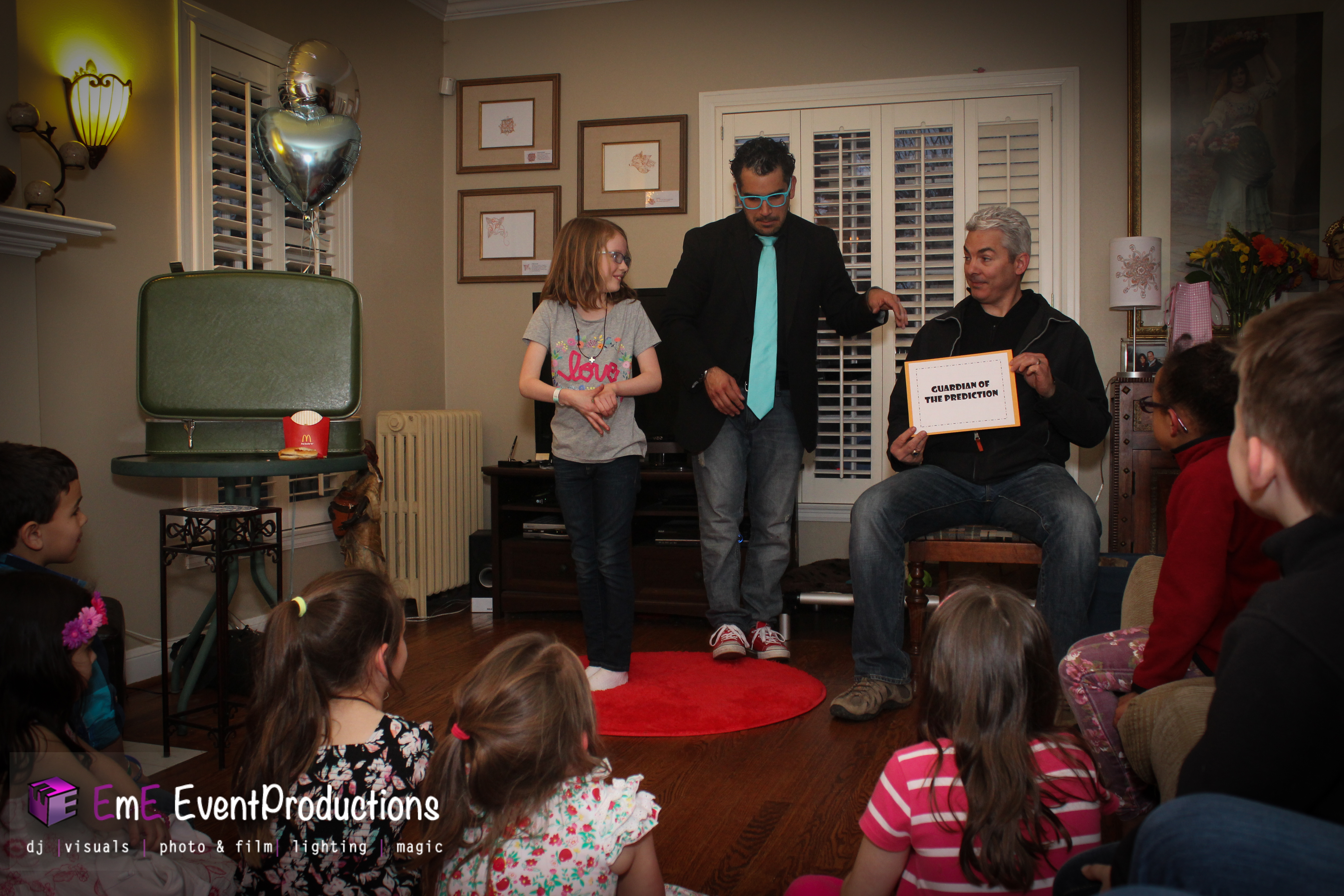 Mentalism at a birthday magic show