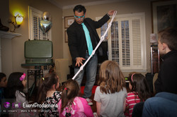 Magic trick with ropes