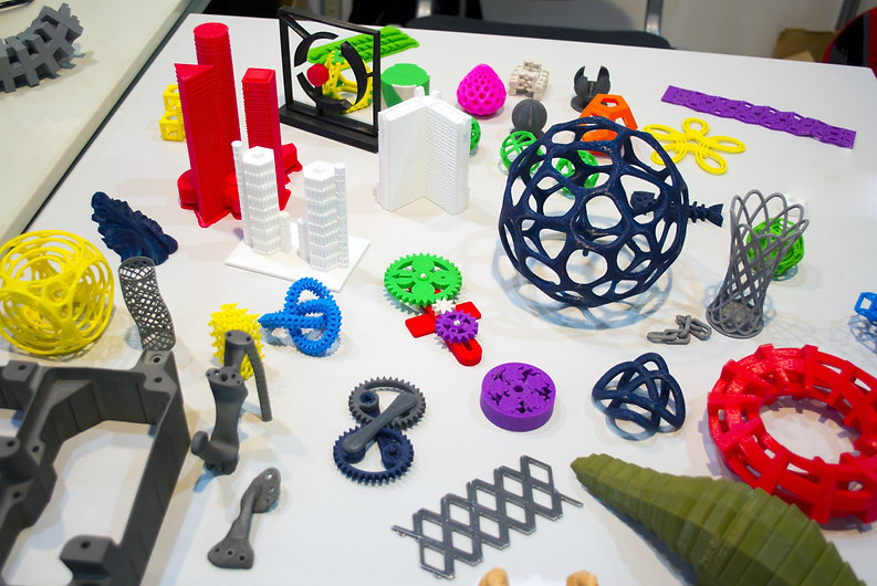 Abstract models printed by 3d printer cl