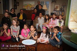 Kids amused at a magic show
